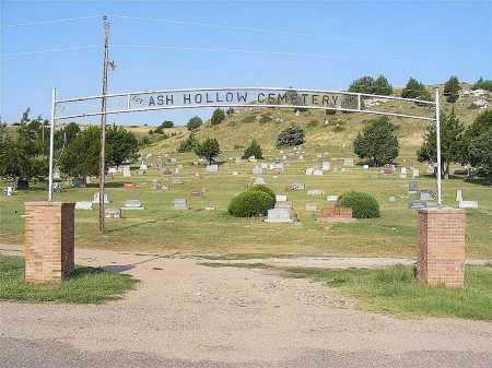 *ASH HOLLOW CEMETERY, ENTRANCE TO - Garden County, Nebraska   ENTRANCE TO *ASH HOLLOW CEMETERY - Nebraska Gravestone Photos