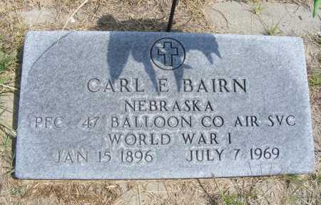 BAIRN, CARL E. - Garden County, Nebraska | CARL E. BAIRN - Nebraska Gravestone Photos