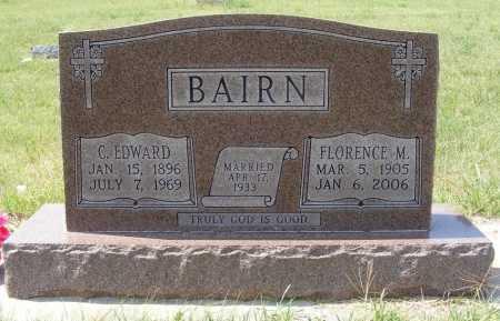 BAIRN, C. EDWARD - Garden County, Nebraska   C. EDWARD BAIRN - Nebraska Gravestone Photos