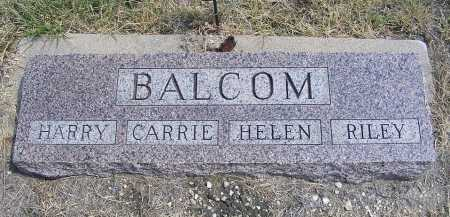 BALCOM, RILEY - Garden County, Nebraska | RILEY BALCOM - Nebraska Gravestone Photos