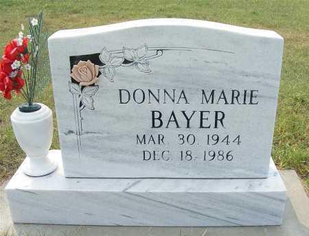 BAYER, DONNA MARIE - Garden County, Nebraska   DONNA MARIE BAYER - Nebraska Gravestone Photos