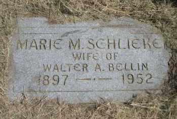 SCHLIEKE BELLIN, MARIE M. - Garden County, Nebraska   MARIE M. SCHLIEKE BELLIN - Nebraska Gravestone Photos