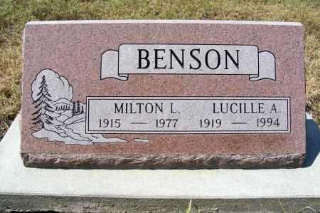 BENSON, MILTON L. - Garden County, Nebraska | MILTON L. BENSON - Nebraska Gravestone Photos