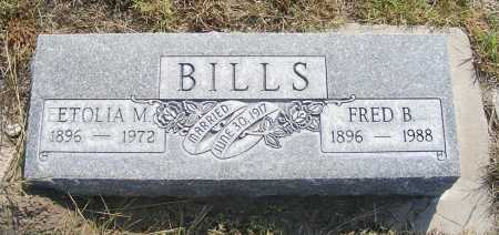 BILLS, ETOLIA M. - Garden County, Nebraska | ETOLIA M. BILLS - Nebraska Gravestone Photos