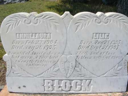 BLOCK, ANNIE LAURA - Garden County, Nebraska | ANNIE LAURA BLOCK - Nebraska Gravestone Photos