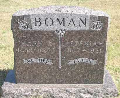 BOWMAN, HEZEKIAH - Garden County, Nebraska | HEZEKIAH BOWMAN - Nebraska Gravestone Photos
