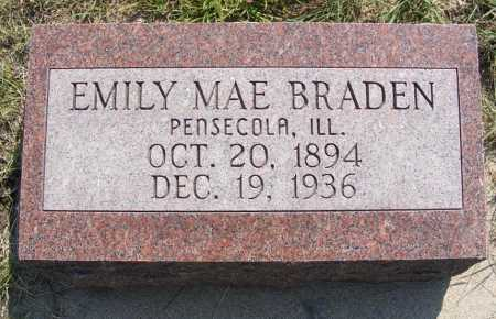 BRADEN, EMILY MAE - Garden County, Nebraska | EMILY MAE BRADEN - Nebraska Gravestone Photos