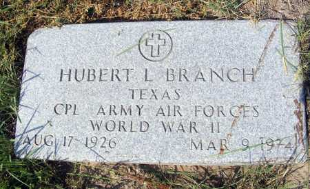 BRANCH, HUBERT L. - Garden County, Nebraska | HUBERT L. BRANCH - Nebraska Gravestone Photos