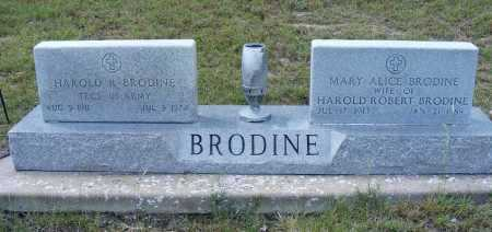 BRODINE, MARY ALICE - Garden County, Nebraska | MARY ALICE BRODINE - Nebraska Gravestone Photos