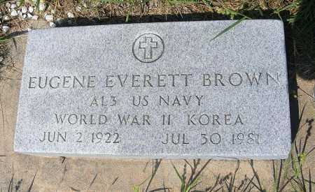 BROWN, EUGENE EVERETT - Garden County, Nebraska | EUGENE EVERETT BROWN - Nebraska Gravestone Photos