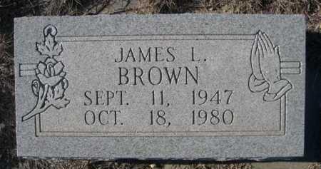 BROWN, JAMES L. - Garden County, Nebraska | JAMES L. BROWN - Nebraska Gravestone Photos