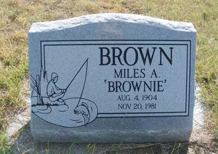 "BROWN, MILES A. ""BROWNIE"" - Garden County, Nebraska 