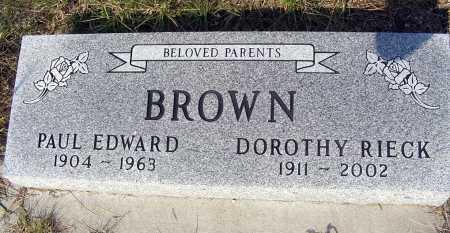 BROWN, DOROTHY RIECK - Garden County, Nebraska | DOROTHY RIECK BROWN - Nebraska Gravestone Photos