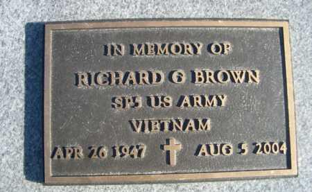 BROWN, RICHARD G. - Garden County, Nebraska | RICHARD G. BROWN - Nebraska Gravestone Photos