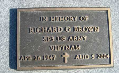 BROWN, RICHARD G. - Garden County, Nebraska | RICHARD G. BROWN - Nebraska Gravestone Photos