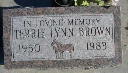 BROWN, TERRIE LYNN - Garden County, Nebraska   TERRIE LYNN BROWN - Nebraska Gravestone Photos