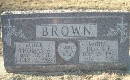 BROWN, DORIS F. - Garden County, Nebraska | DORIS F. BROWN - Nebraska Gravestone Photos