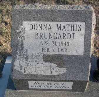 MATHIS BRUNGARDT, DONNA - Garden County, Nebraska   DONNA MATHIS BRUNGARDT - Nebraska Gravestone Photos