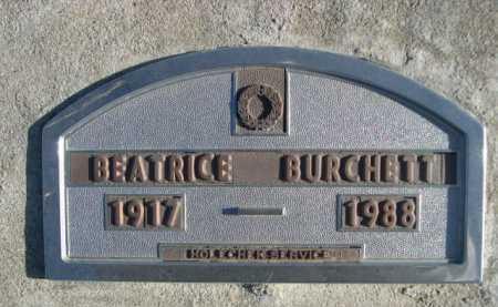 BURCHETT, BEATRICE - Garden County, Nebraska | BEATRICE BURCHETT - Nebraska Gravestone Photos