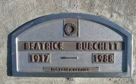 BURCHETT, BEATRICE - Garden County, Nebraska | BEATRICE BURCHETT - Nebraska Gravestone Photos