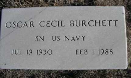 BURCHETT, OSCAR CECIL - Garden County, Nebraska | OSCAR CECIL BURCHETT - Nebraska Gravestone Photos