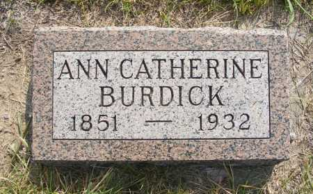 BURDICK, ANN CATHERINE - Garden County, Nebraska | ANN CATHERINE BURDICK - Nebraska Gravestone Photos