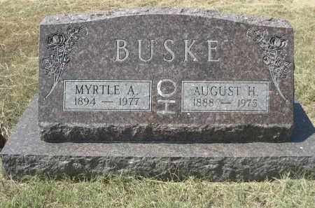 BUSKE, AUGUST H. - Garden County, Nebraska | AUGUST H. BUSKE - Nebraska Gravestone Photos