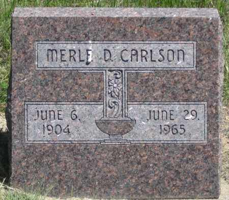 CARLSON, MERLE D. - Garden County, Nebraska | MERLE D. CARLSON - Nebraska Gravestone Photos
