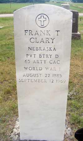 CLARY, FRANK T. - Garden County, Nebraska | FRANK T. CLARY - Nebraska Gravestone Photos