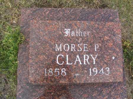 CLARY, MORSE P. - Garden County, Nebraska   MORSE P. CLARY - Nebraska Gravestone Photos