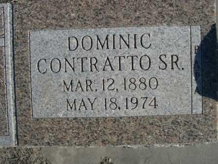 CONTRATTO, DOMINIC SR. - Garden County, Nebraska | DOMINIC SR. CONTRATTO - Nebraska Gravestone Photos