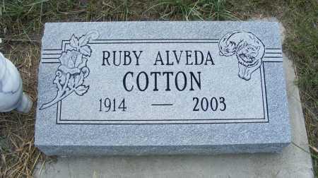 COTTON, RUBY ALVEDA - Garden County, Nebraska | RUBY ALVEDA COTTON - Nebraska Gravestone Photos