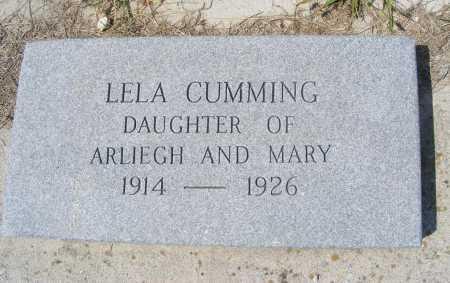 CUMMING, LELA - Garden County, Nebraska   LELA CUMMING - Nebraska Gravestone Photos