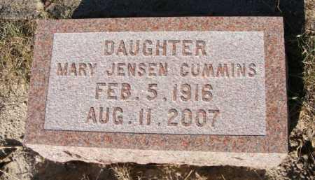 JENSEN CUMMINS, MARY - Garden County, Nebraska | MARY JENSEN CUMMINS - Nebraska Gravestone Photos
