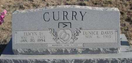 DAVIS CURRY, EUNICE - Garden County, Nebraska | EUNICE DAVIS CURRY - Nebraska Gravestone Photos
