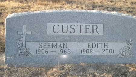 CUSTER, SEEMAN - Garden County, Nebraska | SEEMAN CUSTER - Nebraska Gravestone Photos