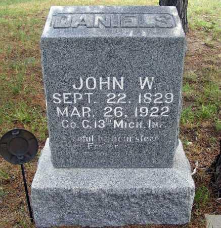 DANIELS, JOHN W. - Garden County, Nebraska | JOHN W. DANIELS - Nebraska Gravestone Photos