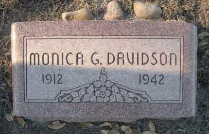 DAVIDSON, MONICA G. - Garden County, Nebraska   MONICA G. DAVIDSON - Nebraska Gravestone Photos