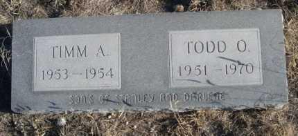DAVIS, TODD O. - Garden County, Nebraska   TODD O. DAVIS - Nebraska Gravestone Photos