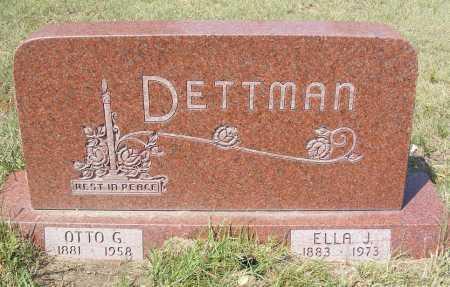 DETTMAN, ELLA J. - Garden County, Nebraska | ELLA J. DETTMAN - Nebraska Gravestone Photos
