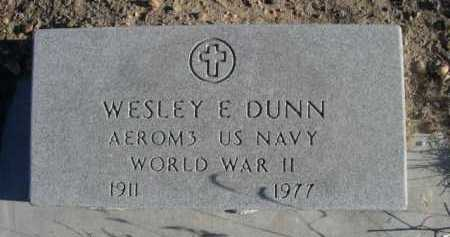 DUNN, WESLEY E. - Garden County, Nebraska   WESLEY E. DUNN - Nebraska Gravestone Photos