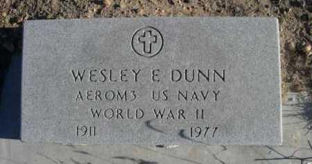 DUNN, WESLEY E. - Garden County, Nebraska | WESLEY E. DUNN - Nebraska Gravestone Photos