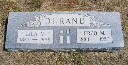 DURAND, LILA M - Garden County, Nebraska   LILA M DURAND - Nebraska Gravestone Photos