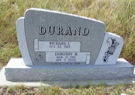 DURAND, RICHARD L. - Garden County, Nebraska | RICHARD L. DURAND - Nebraska Gravestone Photos