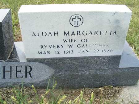 GALLIGHER, ALDAH MARGARETTA - Garden County, Nebraska | ALDAH MARGARETTA GALLIGHER - Nebraska Gravestone Photos