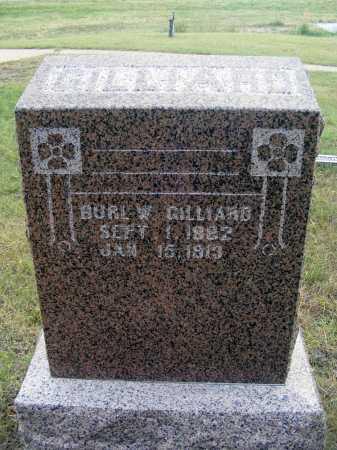 GILLIARD, BURL W. - Garden County, Nebraska | BURL W. GILLIARD - Nebraska Gravestone Photos
