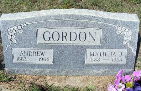 GORDON, ANDREW - Garden County, Nebraska   ANDREW GORDON - Nebraska Gravestone Photos
