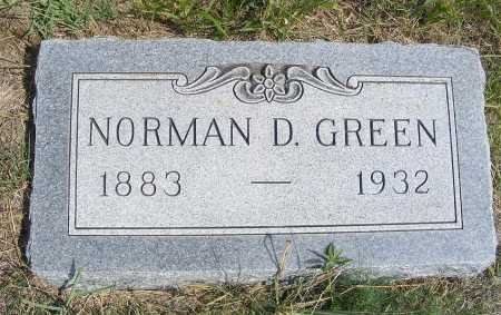 GREEN, NORMAN D. - Garden County, Nebraska   NORMAN D. GREEN - Nebraska Gravestone Photos