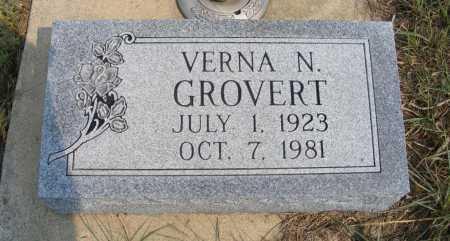 GROVERT, VERNA N. - Garden County, Nebraska   VERNA N. GROVERT - Nebraska Gravestone Photos