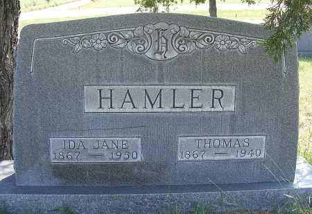 HAMLER, IDA JANE - Garden County, Nebraska | IDA JANE HAMLER - Nebraska Gravestone Photos